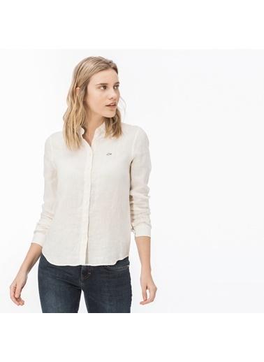Lacoste Kadın Çizgili Gömlek CF0909.09A Bej